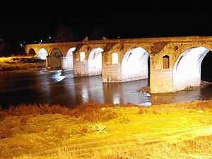 Belenski most - Image: Бяла мостът на Кольо Фичето през нощта