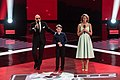 Дмитрий Нагиев, Рутгер Гарехт и Агата Муцениеце на финале Голос. Дети 5.jpg