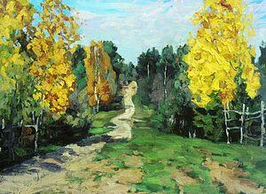 Stanislav Zhukovsky - Autumn road (1912).