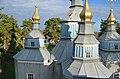 Синява. Миколаївська церква. 1730 р. Верхи і краєвид.jpg