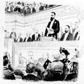 הקונגרס הציוני השני בבזל (1898) במת הנשיאות בישיבת הפתיחה בנין הקונגרס מבחוץ -PHG-1002258.png
