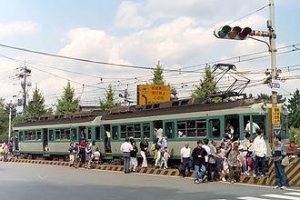 Keage Station - Keage Station of Keishin Line in 1997