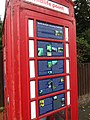 -2019-10-10 Old telephone box used as a Geology & wildlife point, Harbord Road, Overstrand, Norfolk (2).JPG