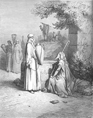 Eliezer and Rebekah at the Well (Gen. 24:10-26...