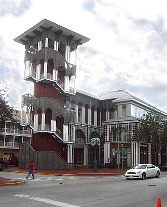 Celebration, Florida - Bank of America building, downtown Celebration