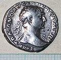 03-519 Denarius of Trajan, obverse (FindID 61310).jpg