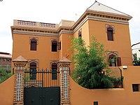 034 Casa Nadal i Farré, façana del Camí Ral (Caldes d'Estrac).JPG