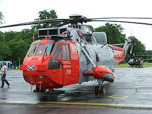 Flag of Scotland - Royal Navy Sea King Mk5 of HMS ''Gannet''.