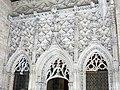 082 Generalitat, galeria gòtica, façana de la capella de Sant Jordi.JPG