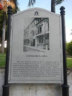 History of the Ateneo de Manila