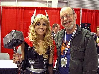 Walt Simonson - Simonson with a Thor cosplayer at the 2012 New York Comic Con