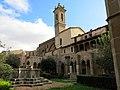 100 Sant Jeroni de la Murtra, claustre, galeria sud i campanar.JPG