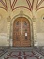109 Església de Sant Sadurní, pl. Mossèn Salvans (Sant Sadurní d'Anoia), portal.jpg