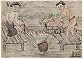 """10 peintures annamites représentant les métiers au Tonkin (""""Couple de Paysans irriguant leur rizière - Nam-Dinh - Tonquin"""").jpg"""