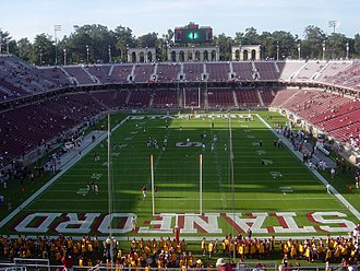 Stanford Stadium - View of the stadium before a football game,  November 2006