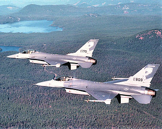 114th Fighter Squadron - 114th Fighter Squadron Block 15 ADF F-16A formation about 1990.
