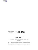 116th United States Congress H. R. 0000150 (1st session) - Grant Reporting Efficiency and Agreements Transparency Act of 2019 B - Engrossed in House.pdf
