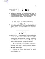 116th United States Congress H. R. 0000169 (1st session) - Driver and Officer Safety Education Act.pdf