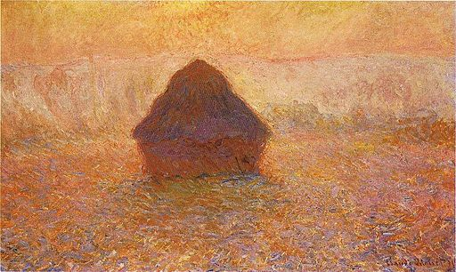 1286 Wheatstack (Sun in the Mist), 1891, 65 x 100 cm; 25 5-8 x 39 3-8 in., Minneapolis Institute of Arts
