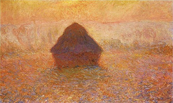 1286 Wheatstack (Sun in the Mist), 1891, 65 x 100 cm; 25 5-8 x 39 3-8 in., Minneapolis Institute of Arts.jpg