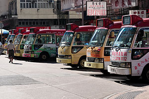 Liquefied petroleum gas - LPG minibuses in Hong Kong