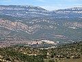 133 Baldomar, la serra Grossa i el Montsec de Rúbies des del castell de Montsonís.JPG
