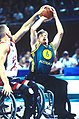 141100 - Wheelchair basketball David Gould action - 3b - 2000 Sydney match photo.jpg