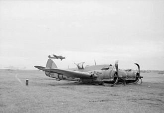 Black Friday (1945) - A No. 144 Squadron Beaufighter which made a belly landing at RAF Dallachy after suffering damage from Z33 and a Fw 190