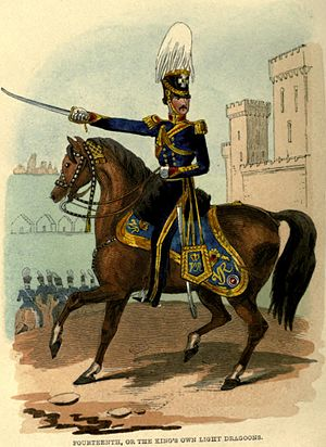 14th King's Hussars - Uniform of the 14th Light Dragoons, 1847