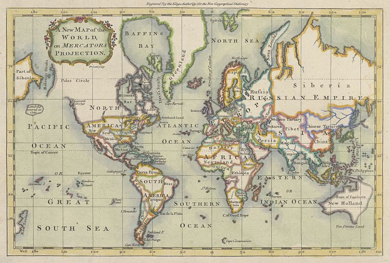 File:1766 Map of the world on Mercators projection (Prinald).jpg