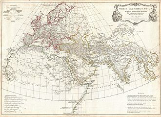 Erythraean Sea - Image: 1794 Anville Map of the Ancient World Geographicus Ancient World anville 1794