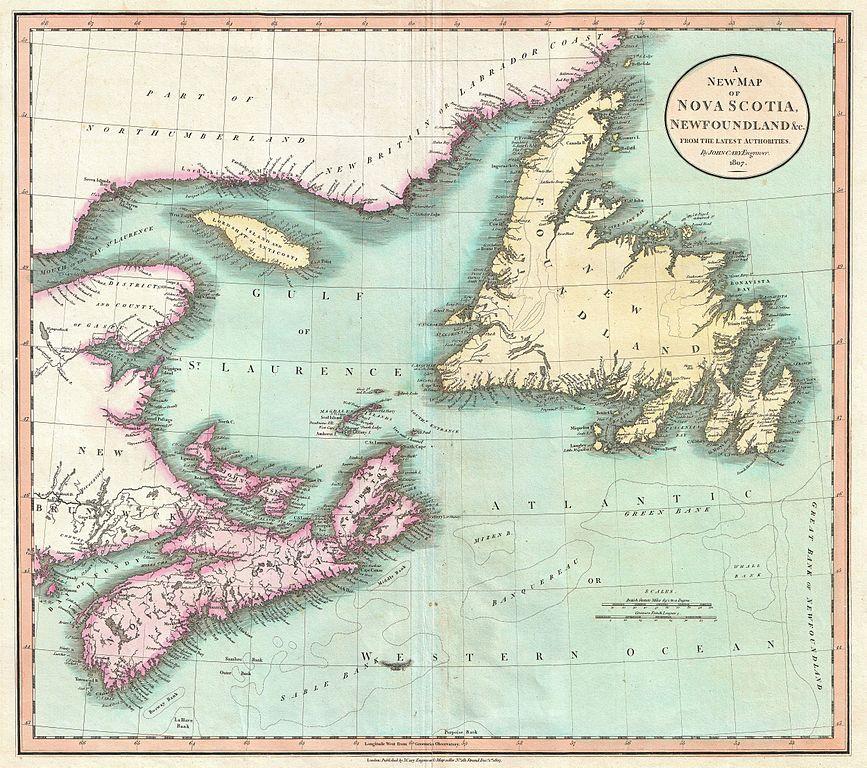 Maritime Islands Canada Map