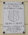 1848-1998 emléktábla, Köztársaság utca 2, 2019 Kiskunhalas.jpg