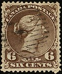 1868ca 6c Canada Yv23a Mi22 SG59 blackish-brown.jpg