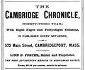 1878 Cambridge Chronicle advert Cambridge Massachusetts.png