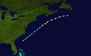 1879 Atlantic hurricane season - Image: 1879 Atlantic hurricane 1 track