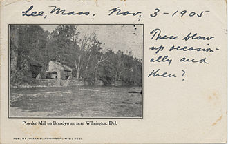 DuPont - Working powder mills on Brandywine Creek, about 1905