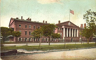 New Orleans Mint - A postcard dated July 12, 1907, showing the New Orleans Mint during its last few years of operation as a branch mint facility