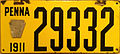1911 Pennsylvania license plate.jpg