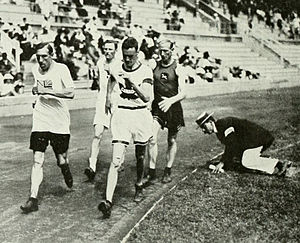 Athletics at the 1912 Summer Olympics – Men's 10 kilometres walk - Image: 1912 Athletics men's 10 kilometre walk
