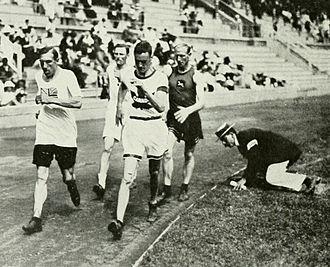 Athletics at the 1912 Summer Olympics – Men's 10 kilometres walk - Image: 1912 Athletics men's 10 kilometre walk