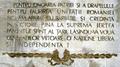 1916 Inscriptie mausoleu Mateias.png