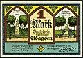 1921-06-01 Gutschein der Stadt Eldagsen, 1Mark, gültig bis 1. Februar 1922, a, faksimilierte Unterschrift der Magistrat, Langensalza-Denkmal, Kriegerdenkmal.jpg