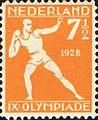 1928 Summer Olympics stamp of the Netherlands athletics.jpg