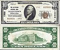 1929 - Ten Dollar Bill Allentown National Bank Allentown PA.jpg