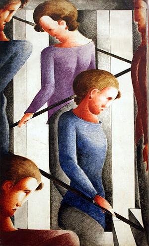 Oskar Schlemmer - Treppenszene (Stairway Scene), 1932, Kunsthalle Hamburg, Hamburg