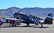 "1943 North American P-51A Mustang l (S-N 43-6251-N4235Y) ""Mrs. Virginia"" Planes of Fame Air Museum (15366786950).jpg"