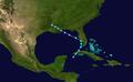 1945 Atlantic tropical storm 7 track.png