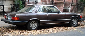 Mercedes-Benz R107 and C107 - 1980 Mercedes-Benz 450SLC, US-spec with prominent bumpers