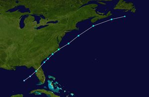 1982 Florida subtropical storm - Image: 1982 Atlantic subtropical storm 1 track